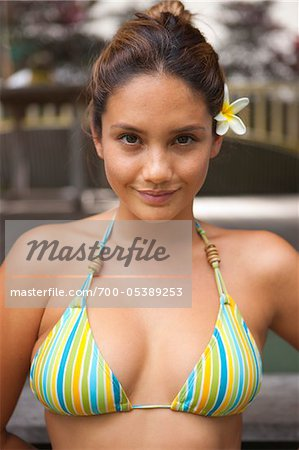 Portrait of Woman Wearing Bikini Stock Photo - Rights-Managed, Image code: 700-05389253
