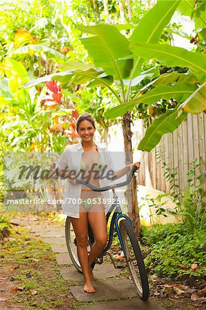 Woman Walking with Bicycle Stock Photo - Rights-Managed, Image code: 700-05389256