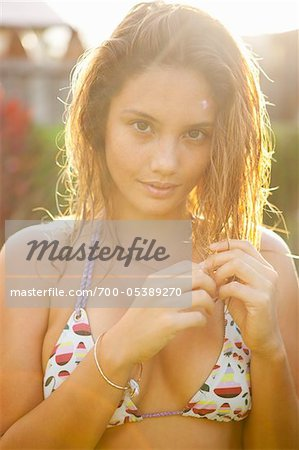 Portrait of Woman with Wet Hair Stock Photo - Rights-Managed, Image code: 700-05389270