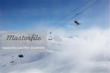 Ski Lift, Whistler Mountain, Whistler, British Columbia, Canada Stock Photo - Rights-Managed, Image code: 700-05389286