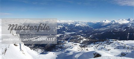 View from Whistler Mountain, Whistler, British Columbia, Canada Stock Photo - Rights-Managed, Image code: 700-05389333