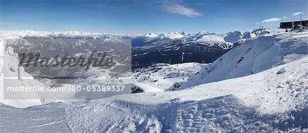 View from Whistler Mountain, Whistler, British Columbia, Canada Stock Photo - Rights-Managed, Image code: 700-05389337