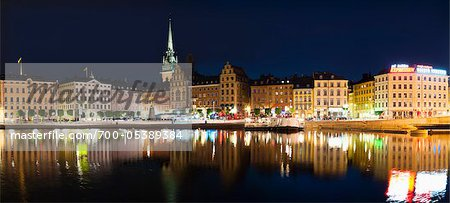 Old Town at Night, Gamla Stan, Stockholm, Sweden Stock Photo - Rights-Managed, Image code: 700-05389384