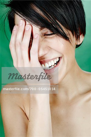 Close-Up of Woman Laughing Stock Photo - Rights-Managed, Image code: 700-05451014