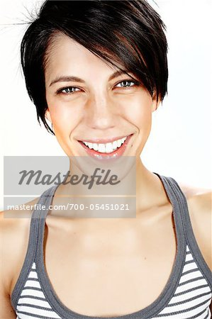 Close-Up of Woman in Studio Stock Photo - Rights-Managed, Image code: 700-05451021