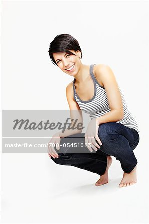 Portrait of Woman in Studio Stock Photo - Rights-Managed, Image code: 700-05451023