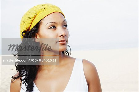 Portrait of Woman on Beach Stock Photo - Rights-Managed, Image code: 700-05451031