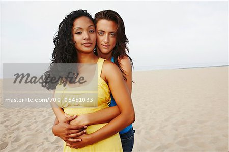 Couple Hugging on Beach Stock Photo - Rights-Managed, Image code: 700-05451033