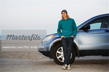 Man with Car at Beach Stock Photo - Rights-Managed, Image code: 700-05451044