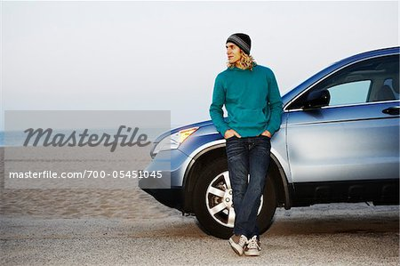 Man with Car at Beach Stock Photo - Rights-Managed, Image code: 700-05451045