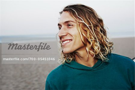 Close-Up of Man on Beach Stock Photo - Rights-Managed, Image code: 700-05451046