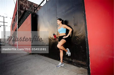 Athletic Woman Taking a Break Stock Photo - Rights-Managed, Image code: 700-05451081