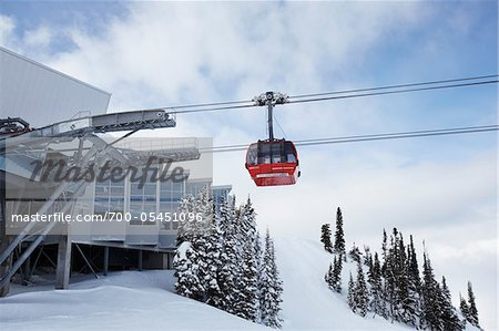 Gondola Arriving at Station, Whistler, British Columbia, Canada