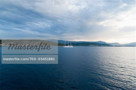 Ship and Storm Clouds, near Split, Split-Dalmatia County, Croatia Stock Photo - Rights-Managed, Image code: 700-05451881