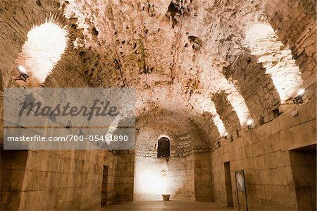 Basement Halls, Diocletian's Palace, Split, Dalmatia, Croatia Stock Photo - Rights-Managed, Image code: 700-05451890