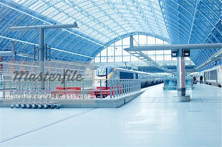 St. Pancras Eurostar Terminal, Camden, London, England Stock Photo - Rights-Managed, Image code: 700-05452080