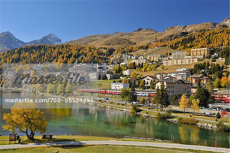 St. Moritz in Autumn, Engadine Valley, Canton of Graubunden, Switzerland Stock Photo - Rights-Managed, Image code: 700-05524294