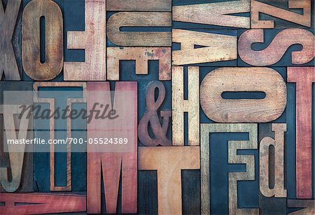 Wood Letterpress Stock Photo - Rights-Managed, Image code: 700-05524389