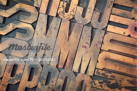 Wood Letterpress Stock Photo - Rights-Managed, Image code: 700-05524392