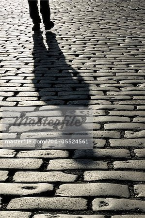Shadow of Person on Cobblestones, London, England Stock Photo - Rights-Managed, Image code: 700-05524561