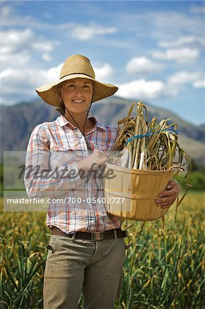 Portrait of Farmer Working on Organic Farm Stock Photo - Rights-Managed, Image code: 700-05602727