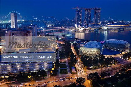 Suntec City and Marina Bay Sands, Marina Bay, Singapore Stock Photo - Rights-Managed, Image code: 700-05609415