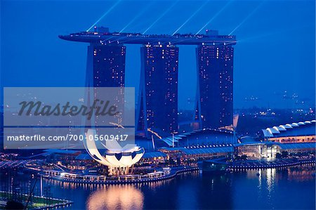 Marina Bay Sands Resort, Marina Bay, Singapore Stock Photo - Rights-Managed, Image code: 700-05609417