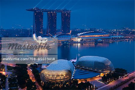 Marina Bay Sands Resort, Marina Bay, Singapore Stock Photo - Rights-Managed, Image code: 700-05609418