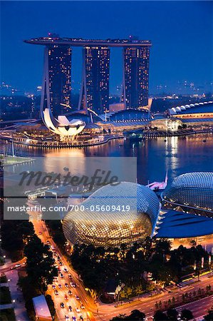 Marina Bay Sands Resort, Marina Bay, Singapore Stock Photo - Rights-Managed, Image code: 700-05609419