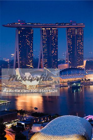 Marina Bay Sands Resort, Marina Bay, Singapore Stock Photo - Rights-Managed, Image code: 700-05609420