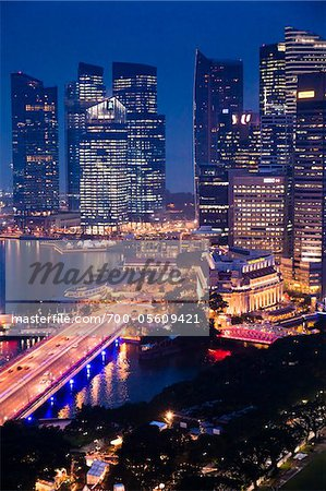 Shenton Way and Financial District, Singapore Stock Photo - Rights-Managed, Image code: 700-05609421