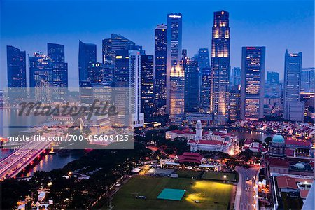 Financial District and Sklyine, Singapore Stock Photo - Rights-Managed, Image code: 700-05609423