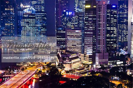 Shenton Way and Financial District, Singapore Stock Photo - Rights-Managed, Image code: 700-05609425