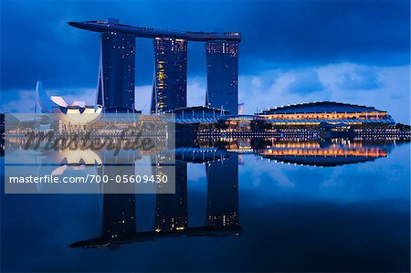 Marina Bay Sands Resort, Marina Bay, Singapore Stock Photo - Rights-Managed, Image code: 700-05609430