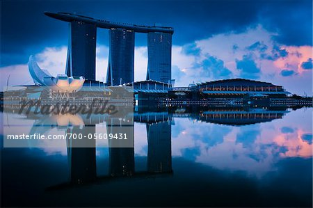Marina Bay Sands Resort, Marina Bay, Singapore Stock Photo - Rights-Managed, Image code: 700-05609431