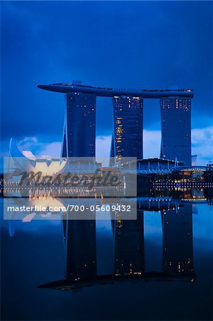 Marina Bay Sands Resort, Marina Bay, Singapore Stock Photo - Rights-Managed, Image code: 700-05609432