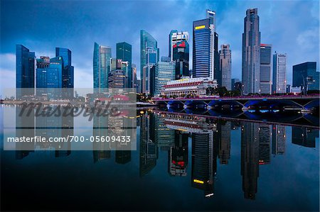 Shenton Way and Financial District, Central Region, Singapore Stock Photo - Rights-Managed, Image code: 700-05609433