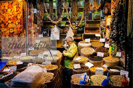 Vendor Stand at Spice Bazaar, Eminonu District, Istanbul, Turkey Stock Photo - Rights-Managed, Image code: 700-05609515
