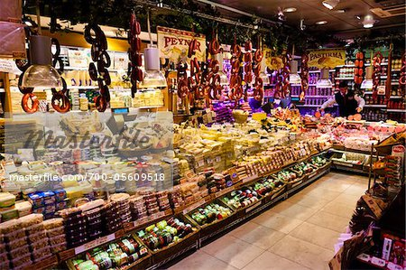 Delicatessan Store, Eminonu District, Istanbul, Turkey Stock Photo - Rights-Managed, Image code: 700-05609518