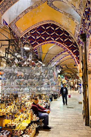 The Grand Bazaar, Eminonu District, Istanbul, Turkey Stock Photo - Rights-Managed, Image code: 700-05609519