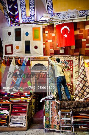 Carpet Seller, Grand Bazaar, Istanbul, Turkey Stock Photo - Rights-Managed, Image code: 700-05609520