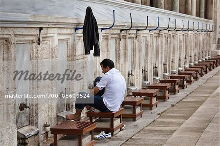Foot Washing Stations, Suleymaniye Mosque, Istanbul, Turkey Stock Photo - Rights-Managed, Image code: 700-05609524