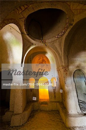 Interior of Church, Goreme Open Air Museum, Cappadocia, Turkey