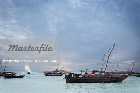 Dhows off Zanzibar Island, Tanzania Stock Photo - Rights-Managed, Image code: 700-05609668