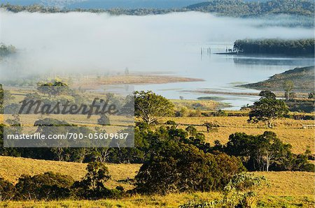 Farmland and Lake Tinaroo, Atherton Tablelands, Queensland, Australia Stock Photo - Rights-Managed, Image code: 700-05609687