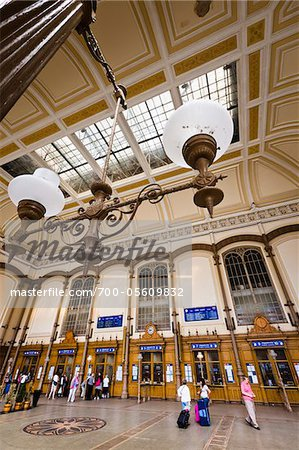 Budapest Nyugati Palyaudvar Train Station, Budapest, Hungary Stock Photo - Rights-Managed, Image code: 700-05609832