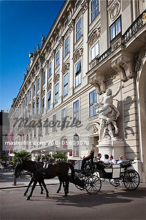 Horse-Drawn Carriage in front of Hofburg Palace, Vienna, Austria Stock Photo - Rights-Managed, Image code: 700-05609878