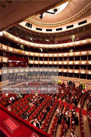 Interior of Vienna State Opera House, Vienna, Austria