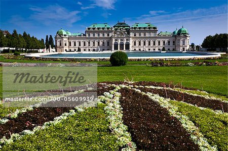 Belvedere Palace, Vienna, Austria Stock Photo - Rights-Managed, Image code: 700-05609939