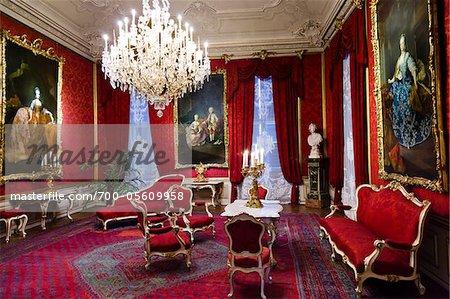 Interior of Schonbrunn Palace, Vienna, Austria